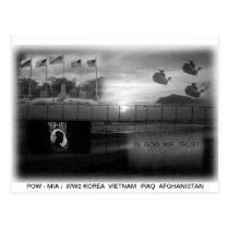 POW MIA Commemorative Postcard