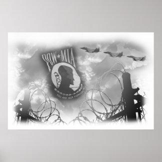 POW MIA Commemorative Poster