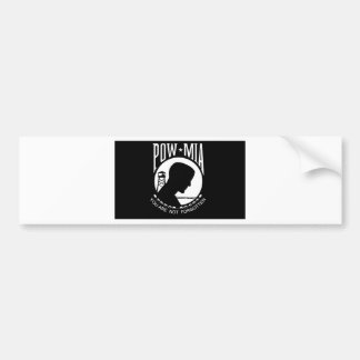 POW+MIA Flag Bumper Sticker