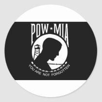POW MIA Flag Classic Round Sticker