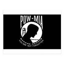 POW MIA Flag Postcard