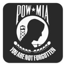 POW-MIA flag Square Sticker