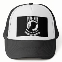 POW-MIA Flag Trucker Hat