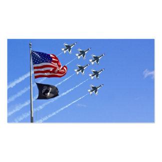 POW MIA Flag with Old Glory & The Thunderbirds Business Card