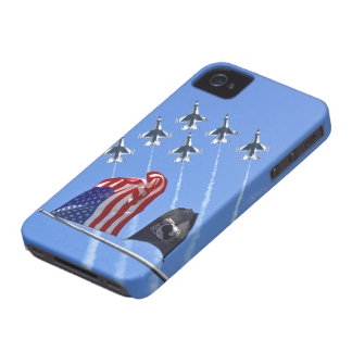 POW MIA Flag with Old Glory & The Thunderbirds Case-Mate iPhone 4 Cases