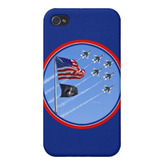 POW MIA Flag with Old Glory & The Thunderbirds iPhone 4 Covers