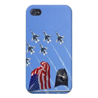 POW MIA Flag with Old Glory & The Thunderbirds iPhone 4 Cases