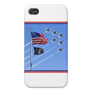 POW MIA Flag with Old Glory & The Thunderbirds iPhone 4/4S Case