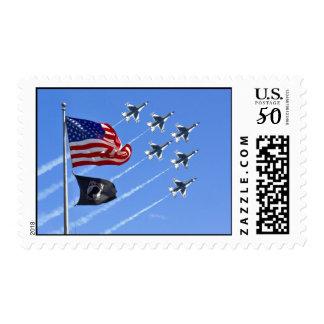 POW MIA Flag with Old Glory & The Thunderbirds Postage