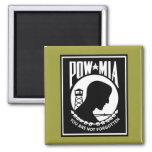 POW/MIA Logo - Rectangle Magnet