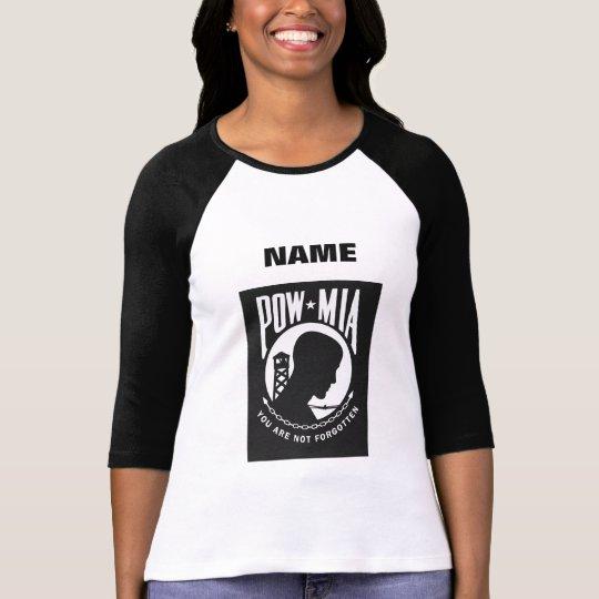 POW MIA Name Template Ladies Raglan T-shirt
