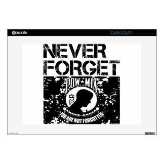 """POW MIA Never Forget 15"""" Laptop Skins"""