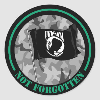 POW-MIA Not Forgotten Classic Round Sticker