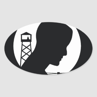 POW MIA OVAL STICKER