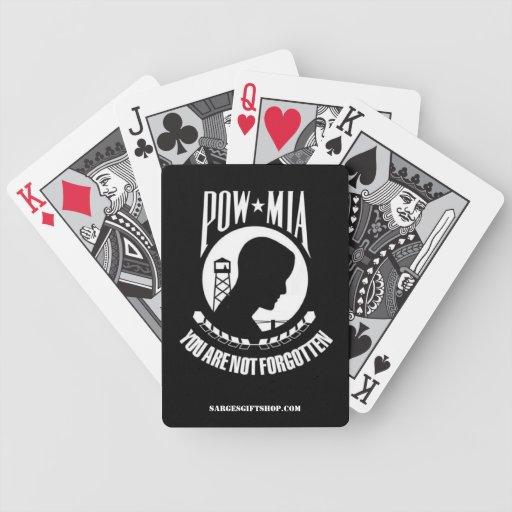POW/MIA PLAYING CARDS