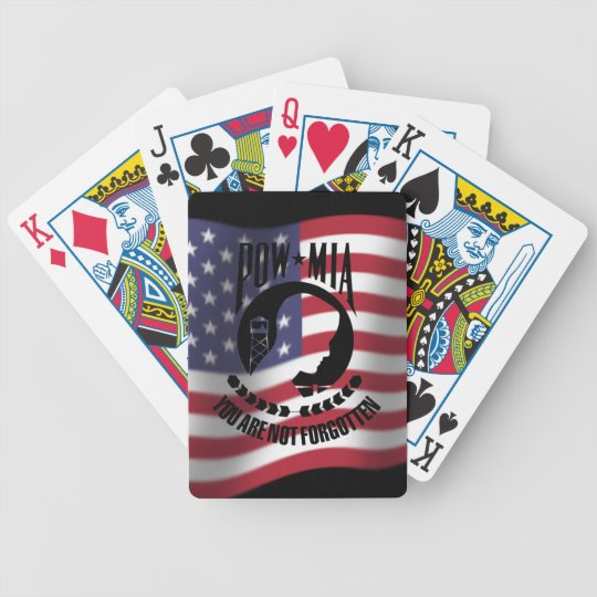 POW - MIA playing cards