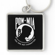 POW MIA Premium Keychain