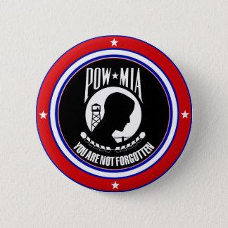 POW MIA - RED WHITE AND BLUE PINBACK BUTTON