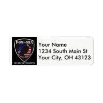 POW / MIA return address labels