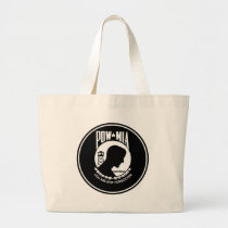 POW/MIA - Round Large Tote Bag