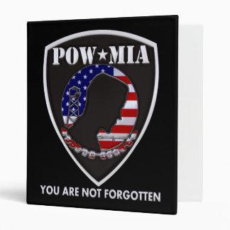 POW MIA - Shield 3 Ring Binder