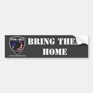 POW MIA - Shield Bumper Sticker
