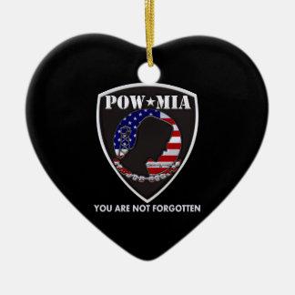 POW MIA - Shield Ceramic Ornament