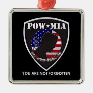 POW MIA - Shield Christmas Ornament
