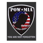 POW MIA - Shield Postcard