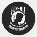 POW MIA Sticker Round Sticker
