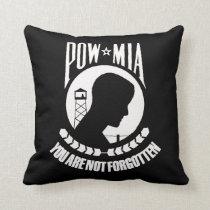 """""""POW MIA Throw Pillow"""" Throw Pillow"""