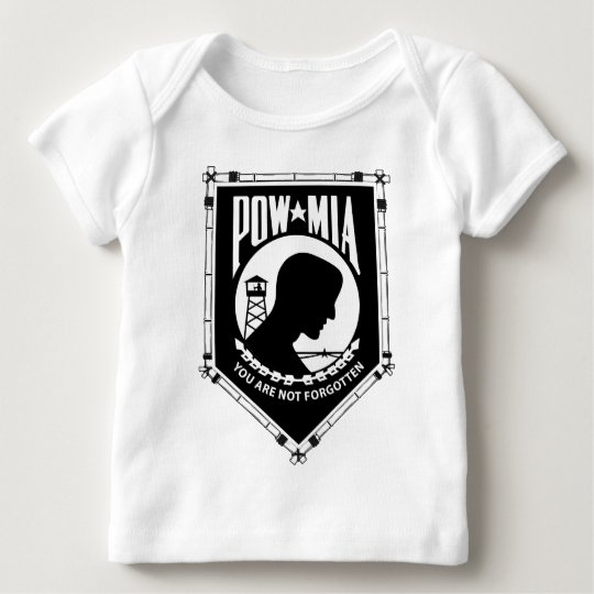 POW/MIA Triangle Bamboo Frame Baby T-Shirt