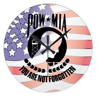 POW - MIA Wall Clock