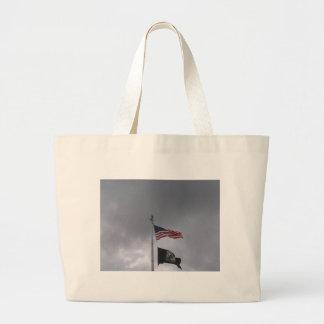 POW/MIA y bandera americana Bolsas