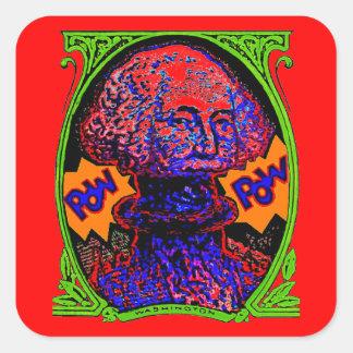 POW!! Money blows up Square Sticker