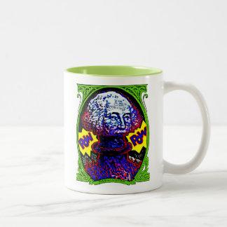 POW!! Money blows up Two-Tone Coffee Mug