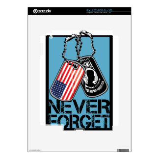 POW Never Forget iPad 2 Decals