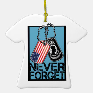 POW Never Forget Christmas Ornaments