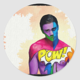 POW! - original painting Stickers