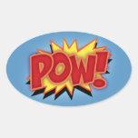 Pow! Oval Sticker
