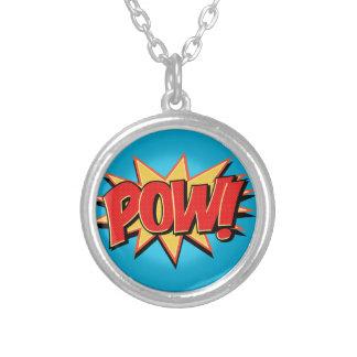 Pow! Round Pendant Necklace