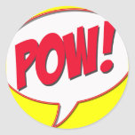 Pow! Round Sticker