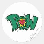 Pow Round Sticker