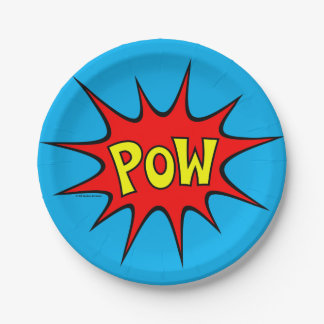 POW! 7 INCH PAPER PLATE