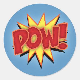 Pow! Round Stickers