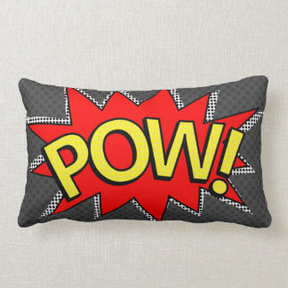POW! - Superhero Comic Book Bubble - Custom BG Lumbar Pillow