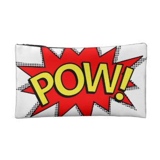 POW! - Superhero Comic Book Red/Yellow Bubble Cosmetic Bag