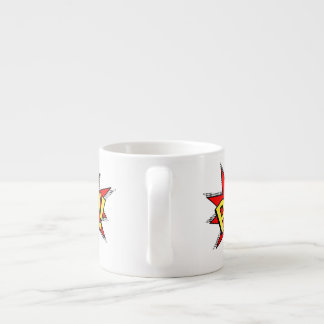 POW! - Superhero Comic Book Red/Yellow Bubble Espresso Cup