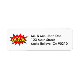 POW! - Superhero Comic Book Red/Yellow Bubble Label