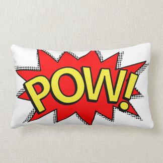 POW! - Superhero Comic Book Red/Yellow Bubble Lumbar Pillow